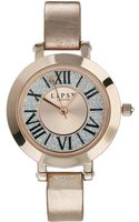 Asos Lipsy Roman Numeral Watch - Lyst