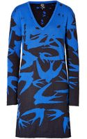 McQ by Alexander McQueen Wool-mohair Blend Swallow Dress  - Lyst