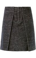 Alexander Wang Pleat Front Skirt - Lyst