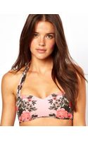 Seafolly Bella Rose Mirror Print Bandeau Bikini Top - Lyst