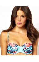 Boutique By Jaeger Seafolly Bella Rose Mirror Print Bustier Bikini Top - Lyst