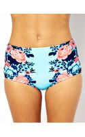 Seafolly Bella Rose Mirror Print High Waisted Bikini Bottom - Lyst