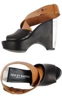 Ter Et Bantine Two-Tone Wedge Platform Sandals - Lyst