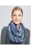Missoni Infinity Zigzag Knit Scarf Turquoise - Lyst