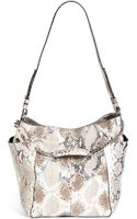 Jimmy Choo Anna Genuine Python Shoulder Bag - Lyst