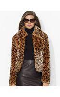 Lauren by Ralph Lauren Faux Fur Coat - Lyst