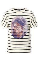 Marc Jacobs Bast Faceprint Striped T shirt - Lyst