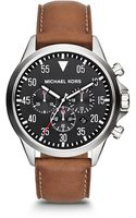 Michael Kors Oversize Brown Chronograph Watch - Lyst