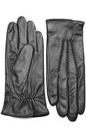 Lauren by Ralph Lauren Leather Gloves - Lyst