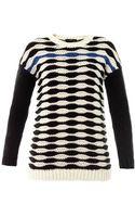 Tibi Contrast Wavy Stripes Sweater - Lyst