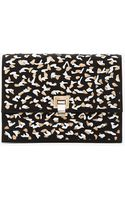 Proenza Schouler Black and Nude Cut Out High Frequency Large Lunch Bag Clutch - Lyst