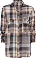 Mango Loose Fit Check Shirt - Lyst