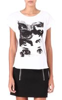 Maje Dame Printed T-shirt - Lyst
