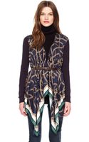 Michael Kors Michael Scarf Front Cardigan - Lyst