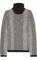 Roberto Cavalli Embellished Wool Turtleneck Sweater - Lyst