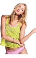 Victoria's Secret Allover Lace Tank - Lyst