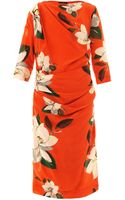 Vivienne Westwood Anglomania Shaman Floral print Dress - Lyst