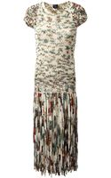 Jean Paul Gaultier Loose Knit Floral Dress - Lyst