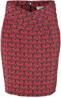 Kenzo Silk Eye Print Skirt - Lyst