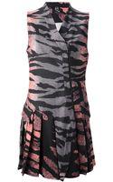 McQ by Alexander McQueen Zebra Print Sleeveless Dress - Lyst