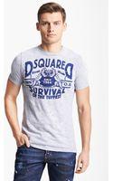 DSquared2 Survival Tshirt - Lyst