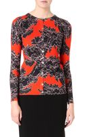 Jonathan Saunders Laceprint Silk and Cashmere Cardigan - Lyst