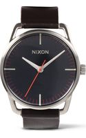 Nixon Mellor Navy Brown Watch - Lyst