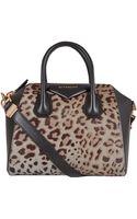 Givenchy Small Grey Leopard Print Antigona Tote Bag - Lyst