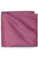 Giorgio Armani Oval Print Silk Pocket Square - Lyst