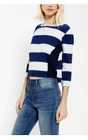 Urban Outfitters Truly Madly Deeply Stripe Cropped Tee - Lyst