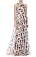 Carolina Herrera Diamond Swirl Print Gown - Lyst
