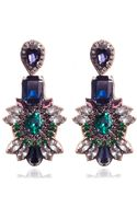 Suzanna Dai Navy Opava Drop Earrings - Lyst
