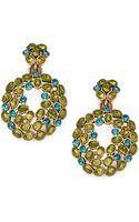 Oscar de la Renta Clustered Hoop Clipon Drop Earrings - Lyst