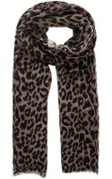 Lily and Lionel Sky Leopard Print Scarf - Lyst