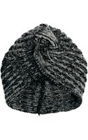 Dune Asos Knitted Turban Hat - Lyst