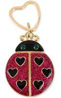 Betsey Johnson Antique Goldtone Glitter Ladybug Key Chain - Lyst