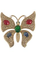 Carolee Butterfly Pin - Lyst