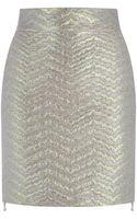 Antonio Berardi Pearlized Mini Skirt - Lyst