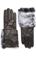Carolina Amato Lambskin Gloves with Fur Cuffs - Lyst