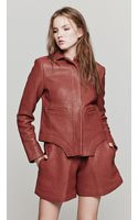 Carven Leather Jacket - Lyst