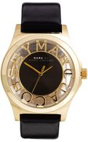 Marc By Marc Jacobs Henry Skeleton Black Watch - Lyst