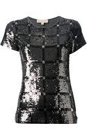 Michael Kors Sequinned Tshirt - Lyst