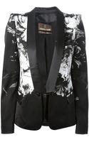 Roberto Cavalli Floral Tuxedo Jacket - Lyst