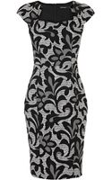 Karen Millen Jacquard Lace Effect Pencil Dress - Lyst