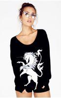 Wildfox Unicorn Crew Neck Sweater - Lyst