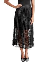 Free People Lace Pretty Pleated Maxi Skirt - Lyst