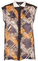 Ostwald Helgason Silk Chiffon Printed Blouse - Lyst