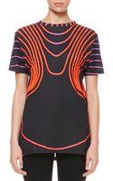 Christopher Kane Grid Face Digital Tshirt Blackredpink - Lyst