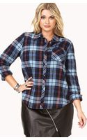 Forever 21 Rustic Plaid Flannel - Lyst