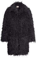 H&M Fake Fur Coat - Lyst